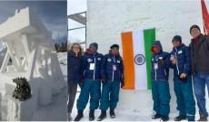 Meet India's first international snow sculpture team led by Kashmiri