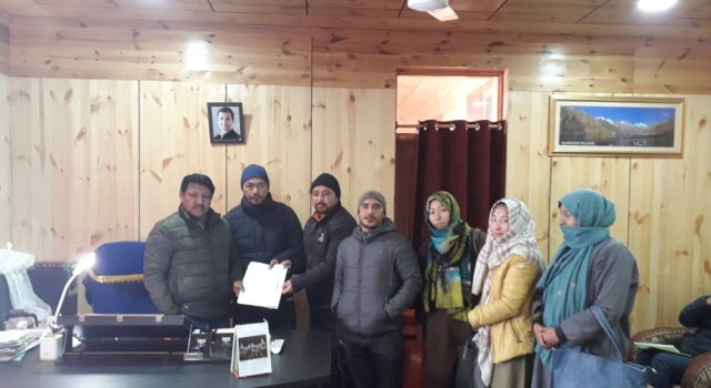 All NHM Employees association Kargil called upon Executive Councillor for Health LAHDC Kargil