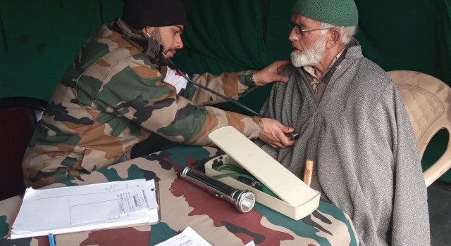Shopian based army unit conducted a medical camp