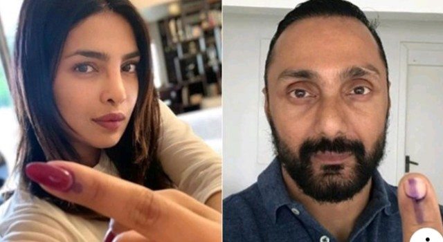 Lok Sabha Elections 2019: Priyanka Chopra, Paresh Rawal, Rekha and others cast their vote
