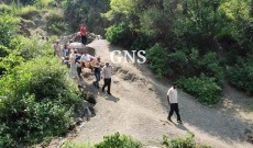 In pictures: Locals, officials carry DC Ramban On Palanquin To Attend Public Meeting