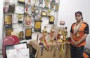 """Azra loves to flaunt in """"SPORTS; a room full of medals and certificates in her house."""