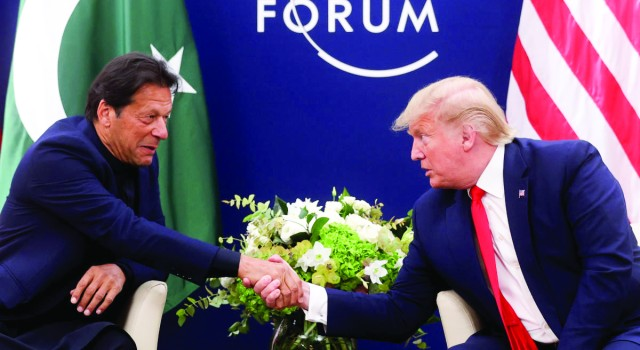Trump again offers to 'help' resolve Kashmir issue, meets Pak PM Imran in Davos