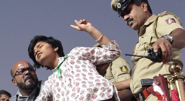"B'luru woman held, jailed for holding ""Free Kashmir"" placard"