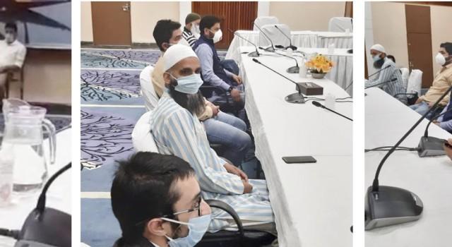 A delegation of JKAHUC meet Advisor Baseer Khan