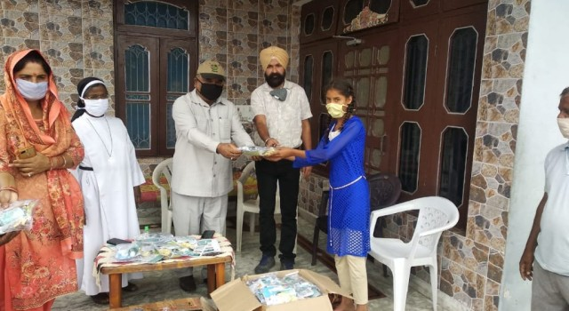 Ration and COVID19 Hygiene Kits distributed among 110 families at village Chani Mansar