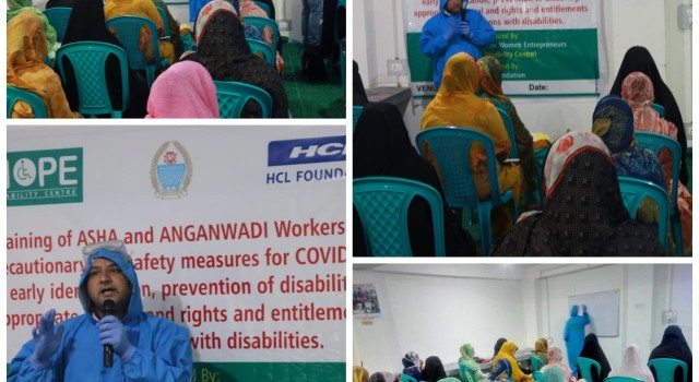TRAINING HELD WITH ASHA AND ANGANWADI WORKERS ON PREVENTION AGAINST COVID-19