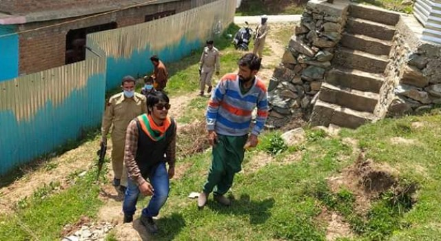 BJP Leader Attacked By R&B Official in Bandipora