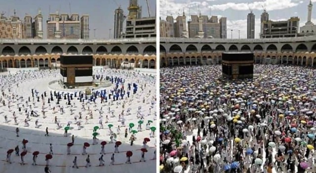 Very different, symbolic hajj in Saudi Arabia