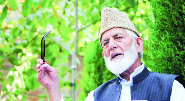 Geelani's representative urges Pakistan not to change status quo of Gilgit-Baltistan