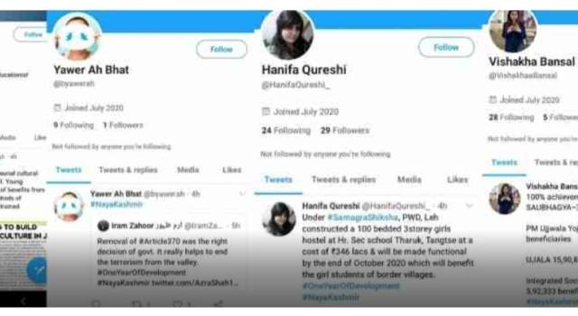 #NayaKashmir: Fake profiles emerge on Twitter, promote 'development' in Kashmir that 'doesn't exist'