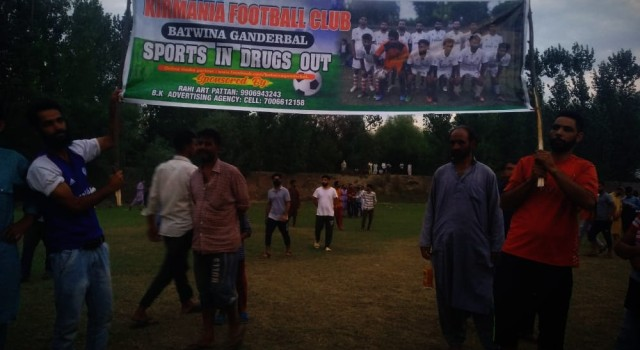 "Football Tournament At Sheerbugh Pattan Ends Up With an impressive theme ""Sports In & Drugs Out"""