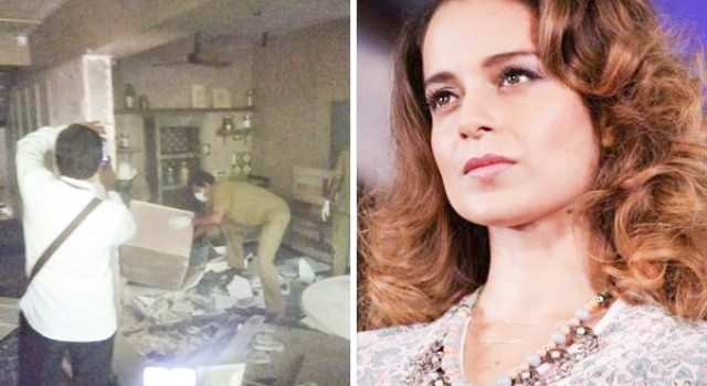 BMC bulldozes Kangana Ranaut's 'illegal office' in Mumbai; actress says 'this is what fascism looks like'
