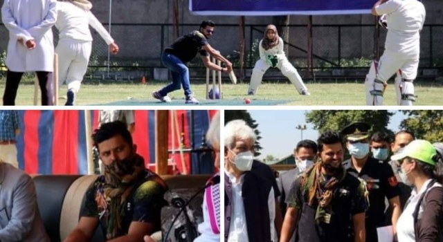 Manoj Sinha inaugurated the Jammu and Kashmir Police Women's 2020 Cricket Tournament at Degree College, Anantnag