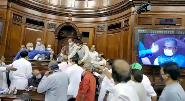 Rajya Sabha Chairman likely to take action against MPs who created ruckus, tore papers
