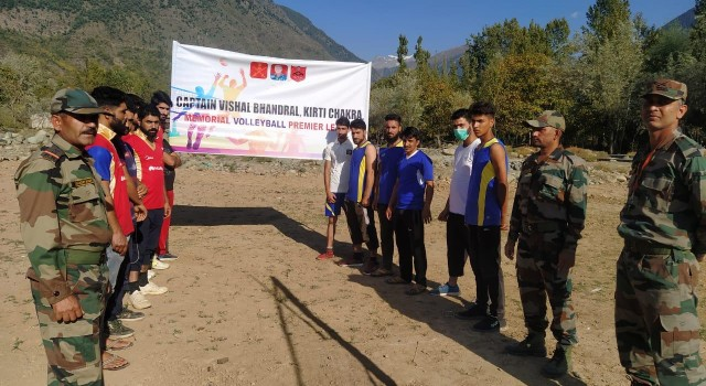 Capt Vishal Bhandral memorial volley ball premier league 2020 commences in Bandipora