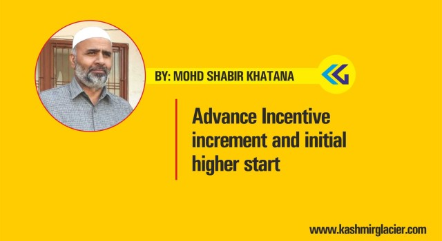Advance Incentive increment and initial higher start