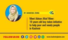 Meet Adnan Altaf Meer: 19 years old boy takes initiative to help poor and needy people in Kashmir