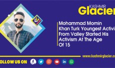 Mohammad Momin Khan Turk: Youngest activist from Valley started his activism at the age of 15