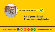 Role of primary School Teacher in Imparting Education
