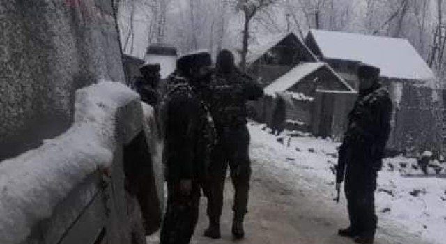 Security forces launched CASO During Midnight in Behrampora Sopore