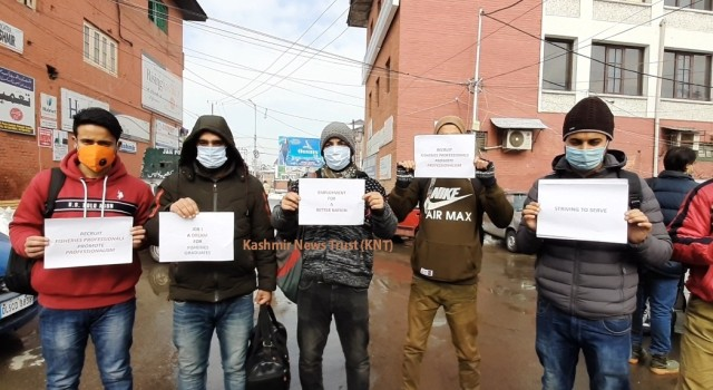 Degree holders of Fisheries Science stage protest, demand posts be advertised