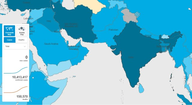 WHO's colour-coded country map segregates J&K, Ladakh from rest of India