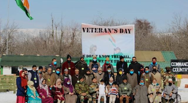 18 RR organised Veterans Day at Anantnag Village