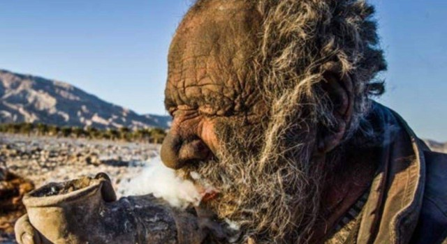 'World's dirtiest man': Amou Haji, from Iran, has not bathed for 67 years