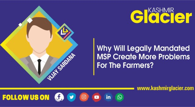 Why will legally mandated MSP create more problems for the farmers?