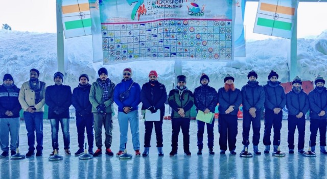 7th National Icestock Sports Championship 2020-21 Concludes At Gulmarg